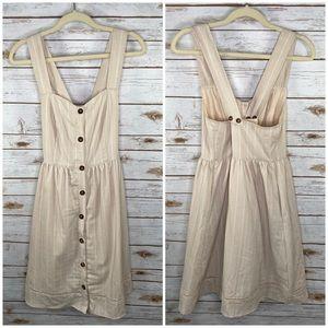 Doe & Rae button front stripe dress